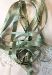 134 Loden Green Dark Sage Silk Satin Ribbon Various Widths